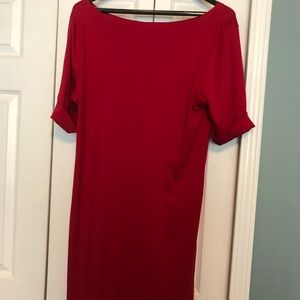 Lovely red t shirt dress